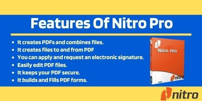 Features of Nitro Pro