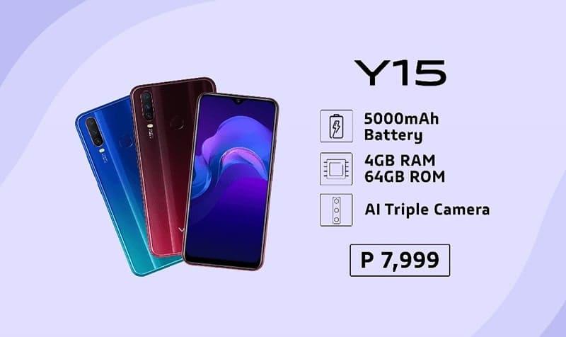 Specifications of Vivo Y15 Pro